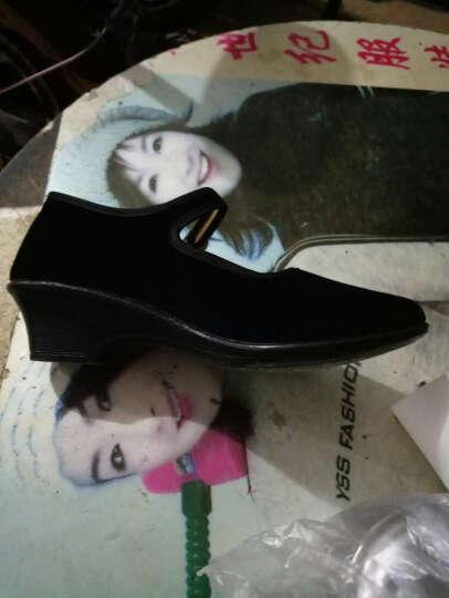 新款单鞋女 休闲布鞋女式黑色工作平绒一代鞋 女单鞋 老北京布鞋女鞋子加大号女鞋工作鞋 红色高跟 34 晒单图