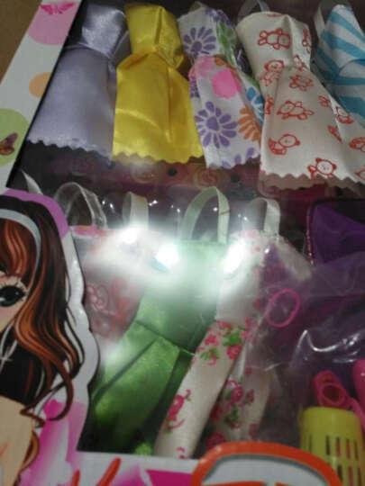 腾文颐 女孩娃娃拖尾羽毛婚礼婚纱公主娃娃套盒礼盒3D真眼美瞳12关节摆件女孩玩具闺蜜礼物 迷糊娃娃白纱系列 晒单图