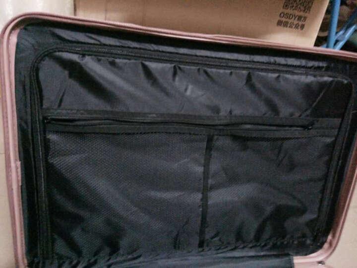 osdy拉杆箱行李箱万向轮男女旅行箱配色 A929拉链玫瑰金 24吋国内旅游5至9天1人行 晒单图