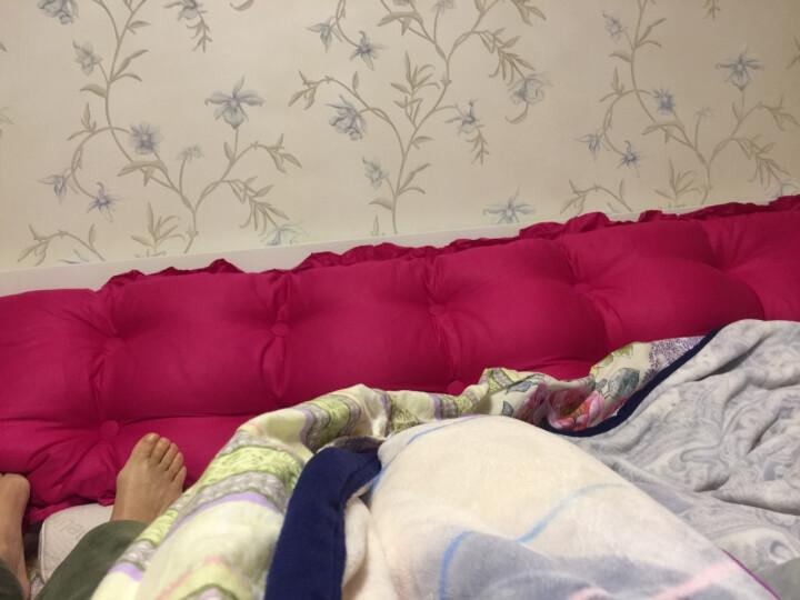 尚品凤凰 全棉韩版床头靠垫软包双人床头靠背可拆洗长靠枕沙发抱枕 安妮小熊 150*53cm 晒单图