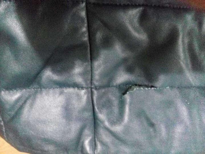 华菲西尼 海宁真皮皮衣 男绵羊皮真皮羽绒服 蓝宝石水貂领真皮皮衣外套HF14051 黑色 XL/175 晒单图