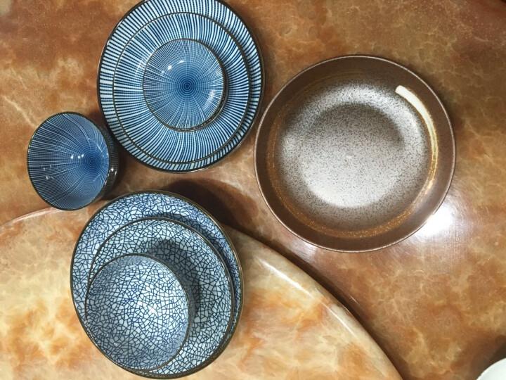 ART UNIVERSE 日式和风无铅陶瓷釉下彩餐具创意盘子圆盘平盘凉菜盘调味碟酱油碟 B款米饭碗(冰裂纹) 晒单图