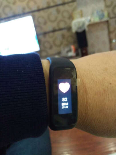 博之轮(BOZLUN)智能运动手环男女防水触控彩屏手表心率健康手环 蓝牙计步器来电提醒腕带 黑色彩屏心率版 晒单图