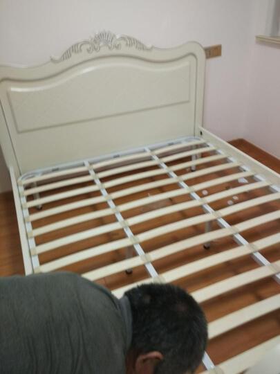 诺曼花园 床实木床欧式双人床韩式田园公主床单人床储物高箱床卧室家具 床*三门衣柜*床头柜*1 1800*2000(排骨架) 晒单图