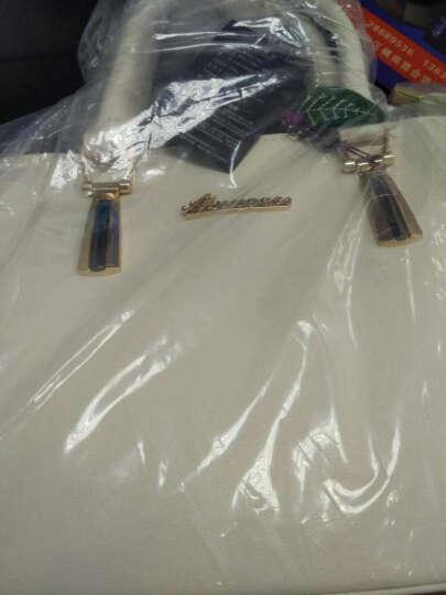 Banaroo女包新款单肩包女2018韩版潮流斜跨杀手包新款简约时尚手提包 白色 晒单图