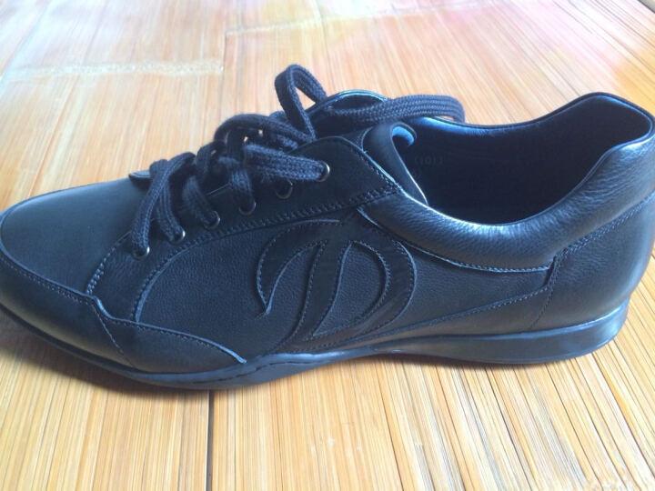 S.T.Dupont/都彭 男士日常休闲系带牛皮男鞋 G20248006 黑色 42 晒单图