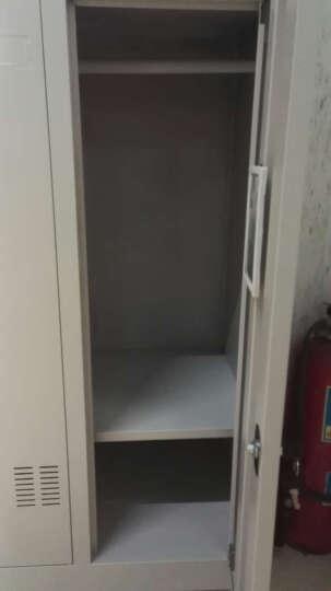 苏美特 更衣柜员工储物柜钢制带锁衣柜宿舍员工柜存包柜铁皮柜鞋柜多门柜 10门更衣柜 实用型 晒单图