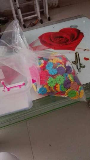 益智玩具塑料积木 幼儿乐园雪花片拼插搭构建片 儿童算数字学习 房子积木-大箱装 晒单图