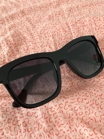 皓顿HAUTTON太阳镜男女款墨镜偏光长脸大框遮阳强光时尚潮休闲眼镜 复古黑灰镜片 晒单图