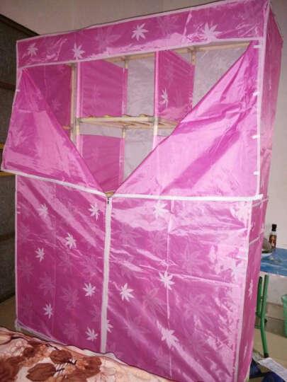 名创优品(MINGCHUANGUP) 名创优品 实木 布衣柜加固加厚大号组合收纳衣柜简易 蓝色小熊 晒单图