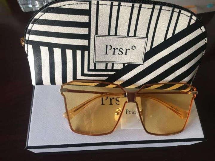 帕莎 太阳镜2017年春新款透明太阳镜女透明墨镜女偏光太阳镜J6668 J6668-J03-R橘红 晒单图