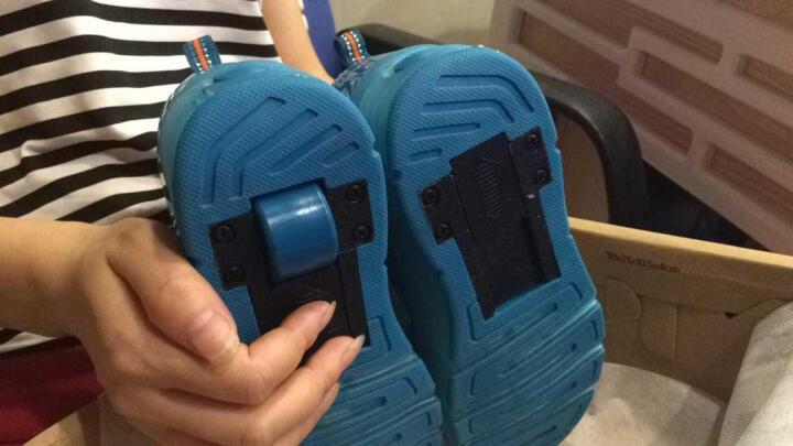 男女儿童暴走鞋双轮LED带灯款爆走鞋轱辘鞋单轮暴走鞋 8083双轮白色 31码19.8CM 晒单图