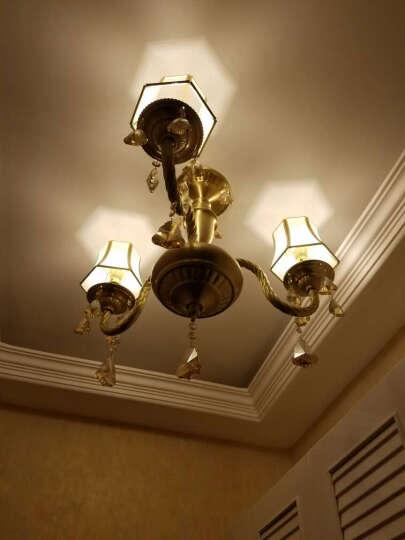 世源 全铜吊灯客厅欧式铜灯美式水晶灯餐厅蜡烛灯具PL7557 18头水晶全铜 带灯罩-(适用25-35平米) 晒单图