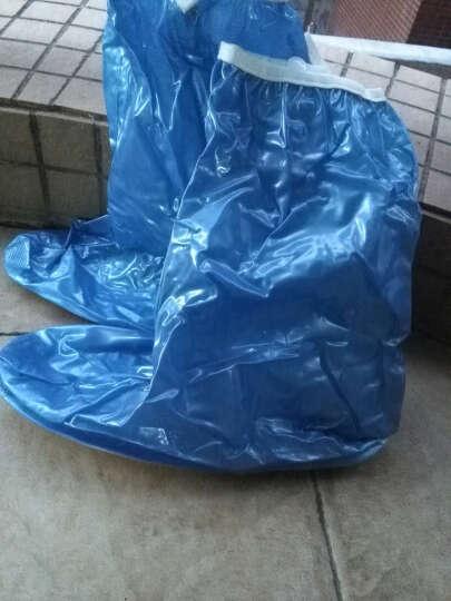 防水防雨鞋套女男高筒雨鞋防滑加厚底耐磨雨靴套儿童鞋套 高筒蓝色XL-41-42码 晒单图