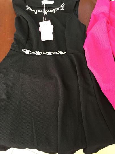 意浦柆塔春夏款套装连衣裙2018长袖雪纺蕾丝印花棉麻背心裙+西装小外套Y5128 粉色A款 M 晒单图