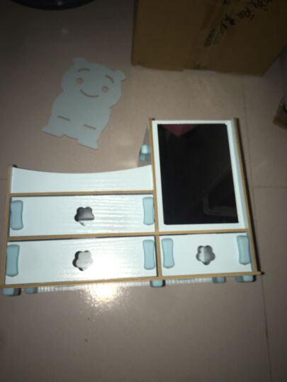 情侣礼物化妆收纳盒化妆镜创意抽纸盒母亲节520礼物生日礼物送女友女生 水蓝镜子款 晒单图