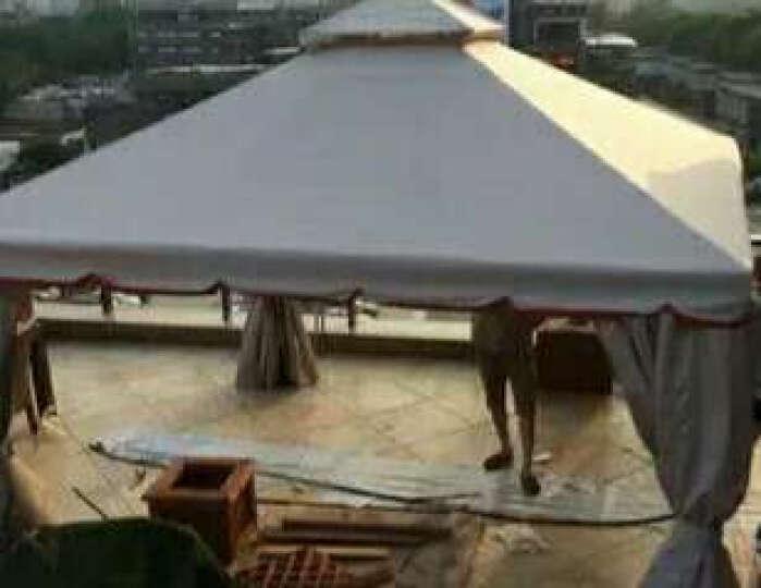 阳光户外凉亭 欧式罗马帐篷雨棚 庭院花园凉亭帐篷 广告婚庆活动棚 帐篷4m*4.5m(墨绿色) 晒单图