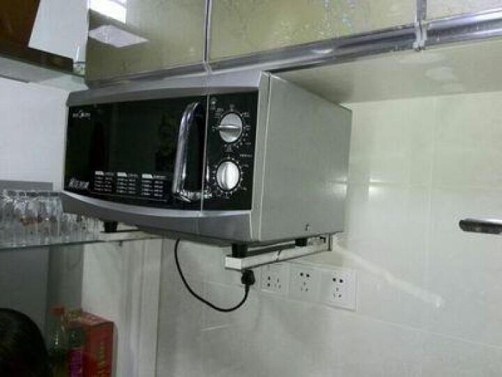尔沫(EM) 多功能厨房置物架太空铝微波炉架子烤箱支架收纳架储物架用品落地三层二层单层 双层58cm(内径54)+4钩 晒单图