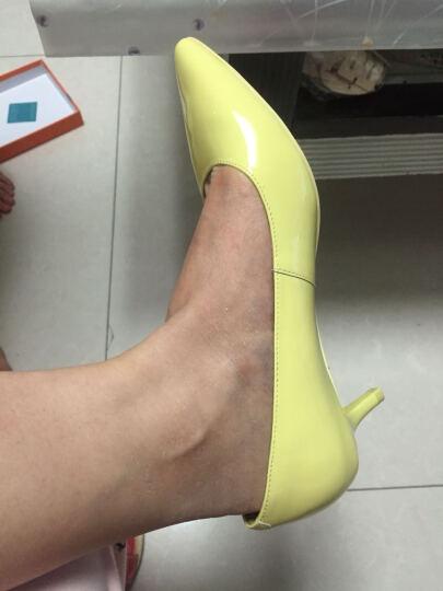 CNE 女鞋春夏季尖头细跟高跟鞋简约浅口套脚中跟单鞋CFS 7M55401 橙粉色 SAP 36 晒单图
