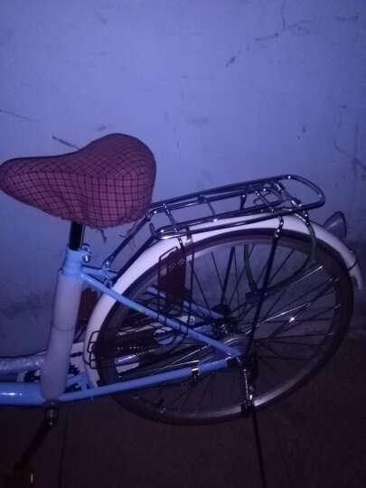 凤凰(Phoenix) 凤凰城市自行车女式24/26寸学生男女复古公主淑女单车休闲通勤车 24寸莉莉 粉色 晒单图