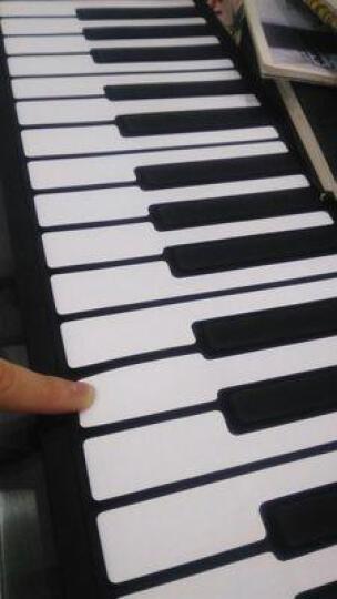 智扣 手卷钢琴便携式折叠琴61键88键 蓝色61键 晒单图