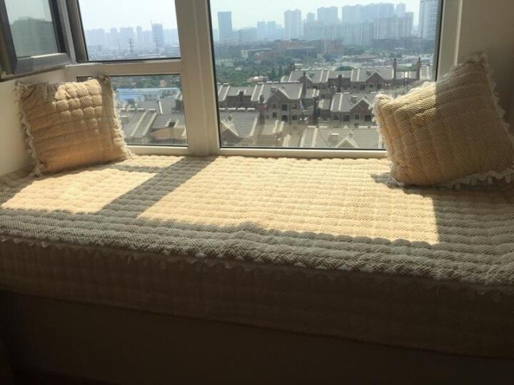 福艺居 超柔毛绒飘窗垫加厚卧室窗台垫简约现代纯色榻榻米毯子坐垫 可定制 灯芯绒-驼色 110*180 晒单图