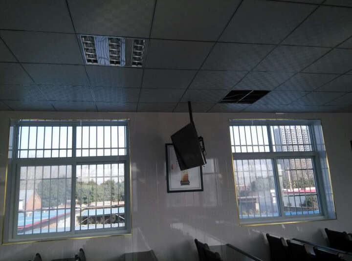 威视朗27-70英寸重载升降电视吊架挂架天花板液晶显示器吊顶支架海信TCL小米4A/4S伸缩吊装壁挂 银色大号317MT(50-65寸)晒图返20元 +延长管(可增长至4米) 晒单图