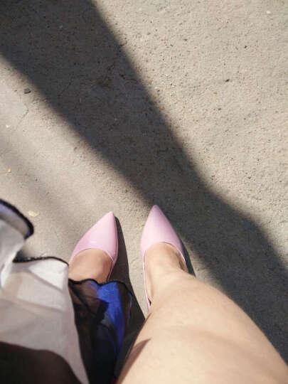 歌山品悦    春季新款高跟鞋时尚尖头细跟性感单鞋女中跟工作鞋 灰色 36 晒单图