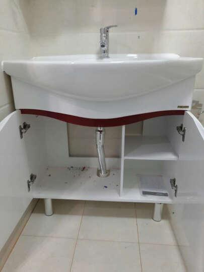 法恩莎卫浴浴室柜卫浴面盆组合套装洗手盆洗漱台FPG3637台盆套装现代简约80cm带镜箱 FPG3637B含龙头 送安详询客服 晒单图