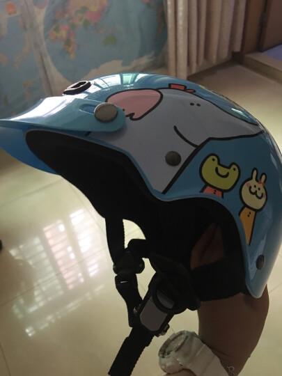 动物乐园 儿童哈雷夏盔半盔摩托车头盔 男女颜色可随意搭配 长镜款 S号适合头围48-52CM 晒单图