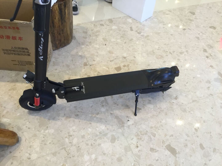 升特锂电滑板车 可折叠便携迷你电动车 成人电动滑板车 代步代驾车ST-8001/8003 前后双减震 标准版续航40-50km 晒单图