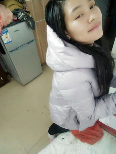 高梵修身显瘦连帽羽绒服女短款轻薄时尚韩版女装百搭学生外套反季清仓 黑色 170/XL 晒单图