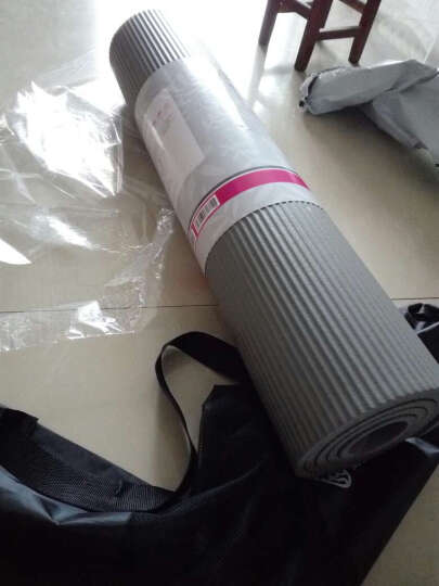 弥雅(MIYA UGO)升级版瑜伽垫185*80cm 加长加宽加厚健身运动垫子 10mm玫红色(含绑带网包) 晒单图