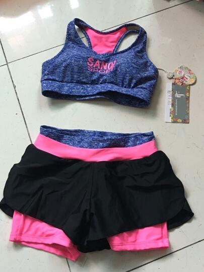 三奇 泳衣女比基尼分体平角BIKINI运动抹胸聚拢泳装健身服温泉泳衣 粉色 M 晒单图
