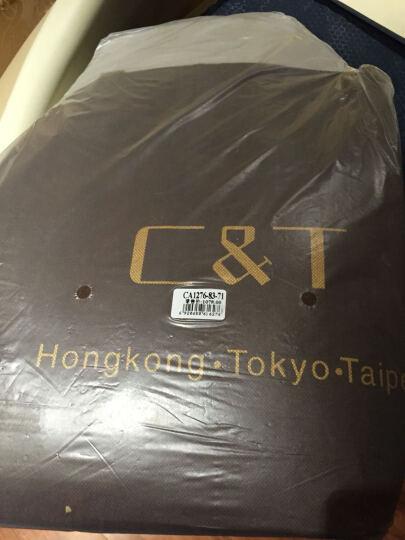 香港C&T女包水桶包女2021新款欧美百搭手提包英伦潮流单肩斜挎包抽绳桶包女格子包大容量 JDCA1276-83-72小款绿色格仔配酒红色 晒单图