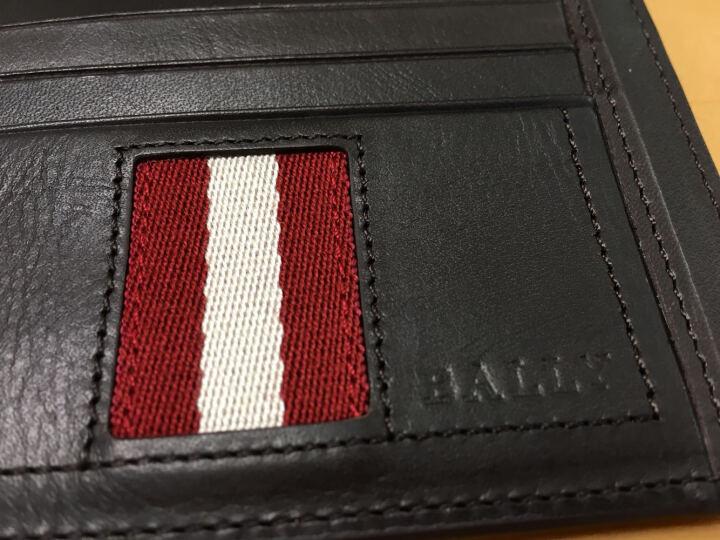 巴利 BALLY卡包 男士名片包 条纹织带配饰多卡槽夹TORIN.T 棕色 晒单图