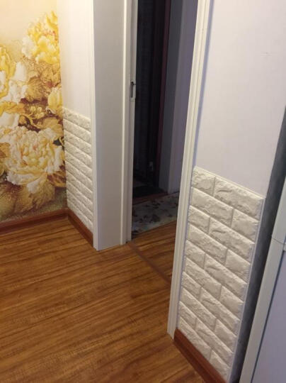 慕格 3d立体墙贴客厅卧室装饰电视背景墙防水自粘墙贴瓷砖贴纸自贴 黄色【70*77cm】 大号(单片装) 晒单图