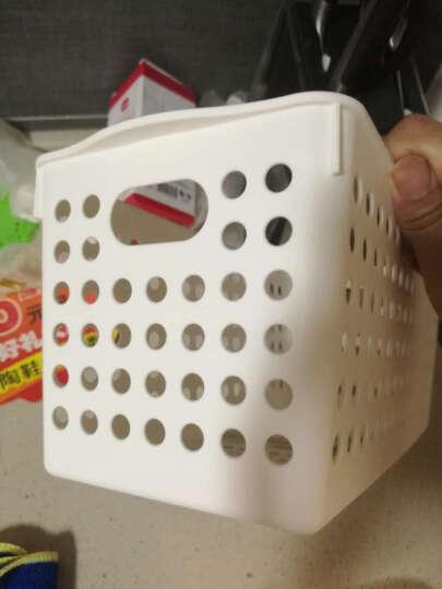 inomata日本进口塑料篮子玩具食品文件收纳筐办公收纳篮收纳框 白色4572 晒单图