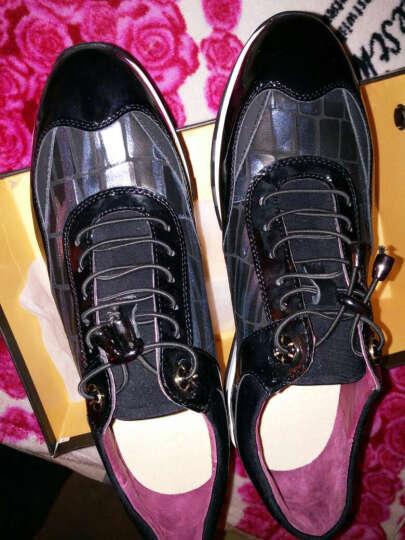 老船长休闲鞋男鞋新款时尚英伦休闲皮鞋头层牛皮鞋子男 灰色 39 晒单图