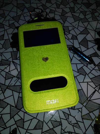 莫凡 视窗皮套手机壳保护壳手机套 适用于华为荣耀3C畅玩版/Hol-T00/移动3G 苹果绿 晒单图