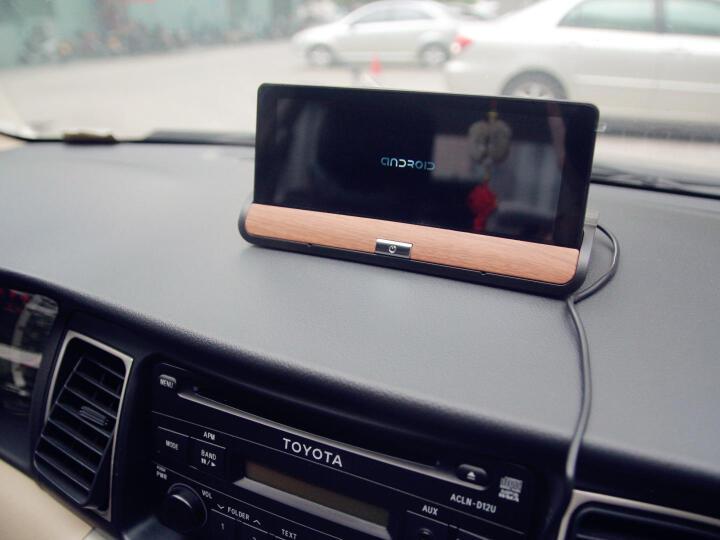 丁威特 4G中控台智能行车记录仪导航仪带云电子狗一体机 汽车后视镜倒车影像双镜头GPS高德导航 16G+4G声控蓝牙导航云电子狗+双录流媒体后录 晒单图
