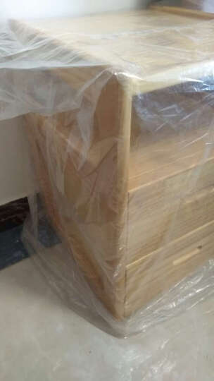 陌兰实木床头柜迷你床边柜小户型现代简约卧室床头桌松木抽屉式储物柜 大号原木色 晒单图