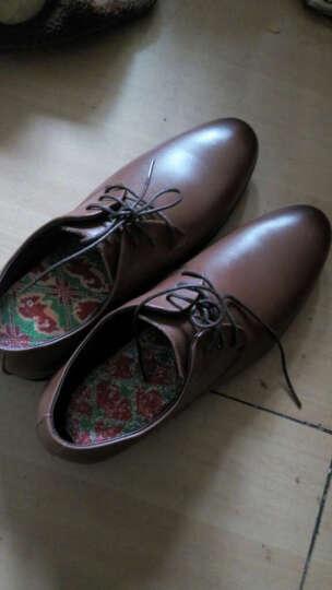 意利船长 男士皮鞋 男鞋男士正装鞋低帮潮流商务休闲鞋婚鞋英伦S-8233 S-8233棕色 43 晒单图