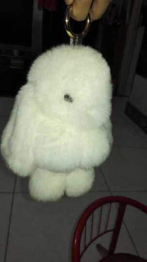装死兔子毛绒玩具挂饰品 獭兔毛背包书包汽车挂件钥匙扣公仔 女生礼物 白色 晒单图