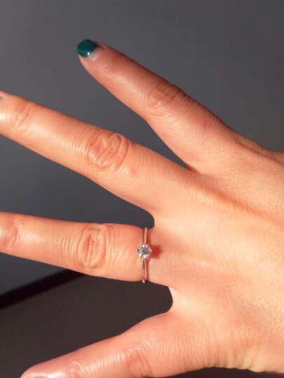 恒久之星 珠宝 钻戒女款 18K金/铂金钻石戒指六爪经典款订婚戒/求结婚女戒 裸钻定制 现货PT950铂26分SI DE 晒单图