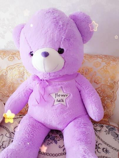 呼呼熊 抱抱熊布娃娃毛绒玩具狗熊1.6米超大公仔泰迪熊熊猫公仔抱枕 紫色薰衣草香味熊 1.4米 晒单图