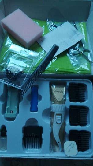 锋霸理发器9800 成人儿童婴儿电推剪 充电式家用静音电推子 理发师专用剃头刀 美发工具 9800-6黑色+海绵套装+钢平牙剪 晒单图