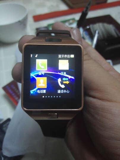 【赠送备用电池】半兽人 触屏智能手表手机蓝牙插卡电话手表 咖啡色 晒单图