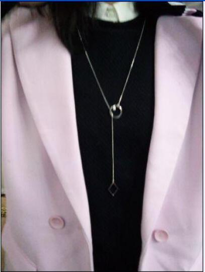 范琦珠宝 925银项链女 淡水珍珠毛衣链长款 秋冬长链配饰【又菱】 电镀14k金-黄色 晒单图
