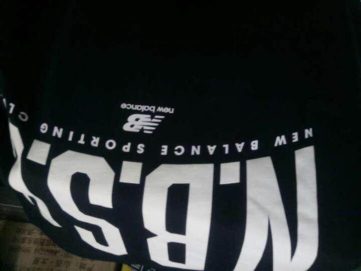 New Balance NB 男款 圆领运动短袖休闲T恤 针织上衣 BK M 晒单图